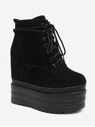 Platform Lace Up Bottines -