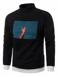 Fleece 3D Photo Print Pullover Sweatshirt -
