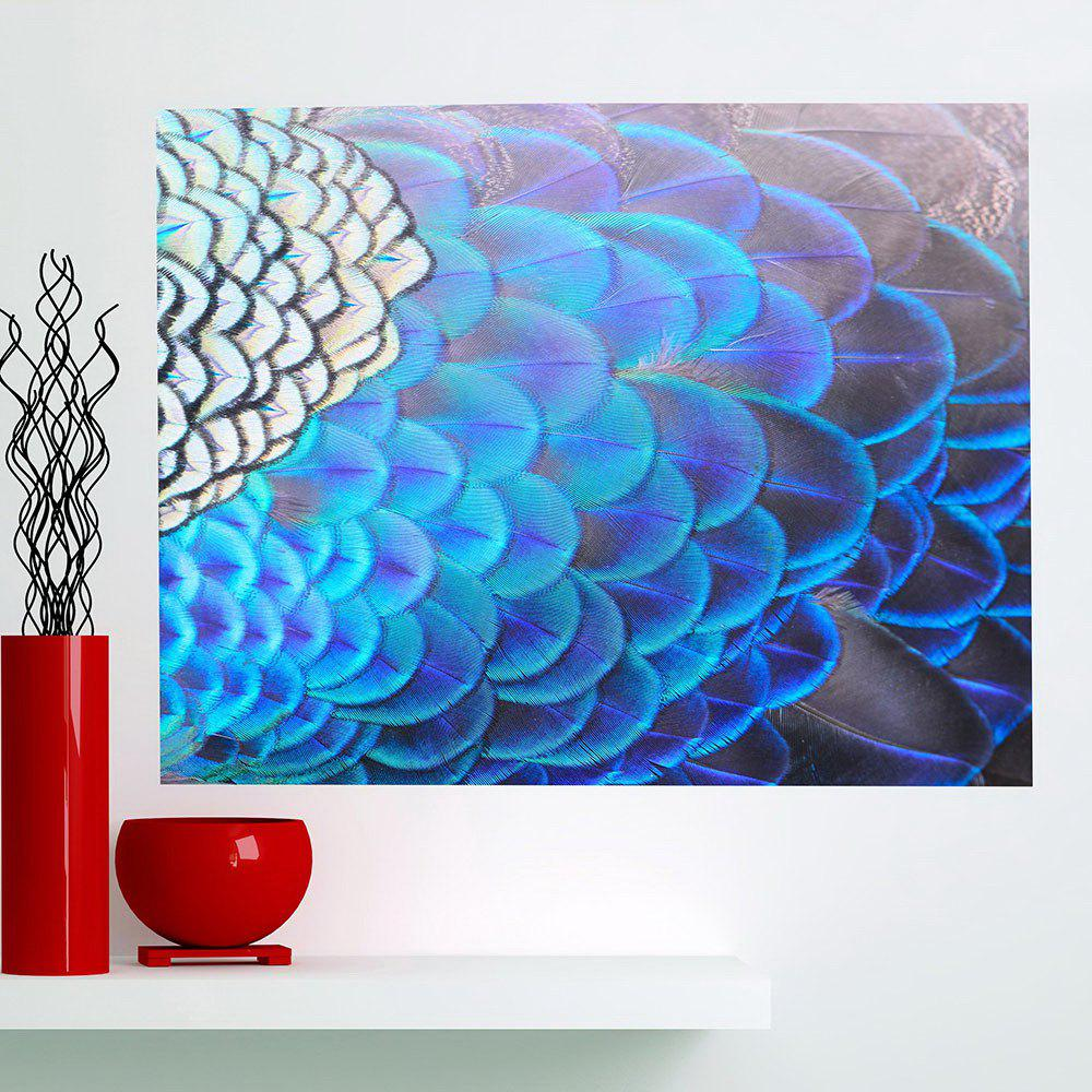 2018 Shiny Peacock Feathers Print Decorative Wall Art Painting In