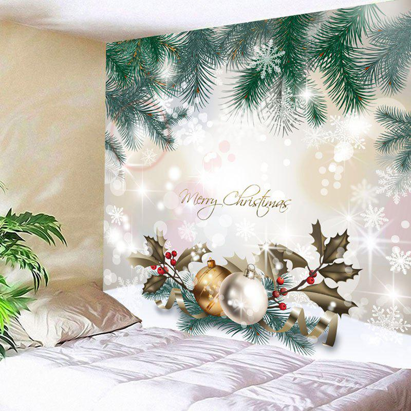 Wall Art Christmas Printed TapestryHOME<br><br>Size: W91 INCH * L71 INCH; Color: COLORMIX; Style: Festival; Theme: Christmas; Material: Nylon,Polyester; Feature: Removable,Washable; Shape/Pattern: Plant; Weight: 0.3750kg; Package Contents: 1 x Tapestry;
