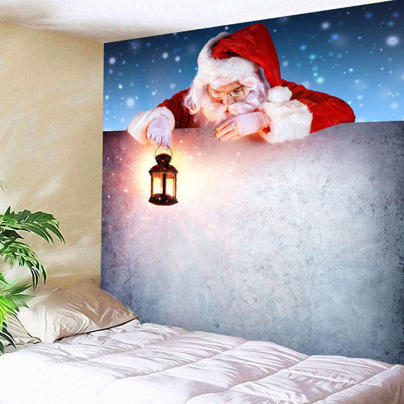 Wall Decor Santa Claus Print Christmas TapestryHOME<br><br>Size: W79 INCH * L59 INCH; Color: COLORMIX; Style: Festival; Theme: Christmas; Material: Nylon,Polyester; Feature: Removable,Washable; Shape/Pattern: Santa Claus; Weight: 0.2700kg; Package Contents: 1 x Tapestry;