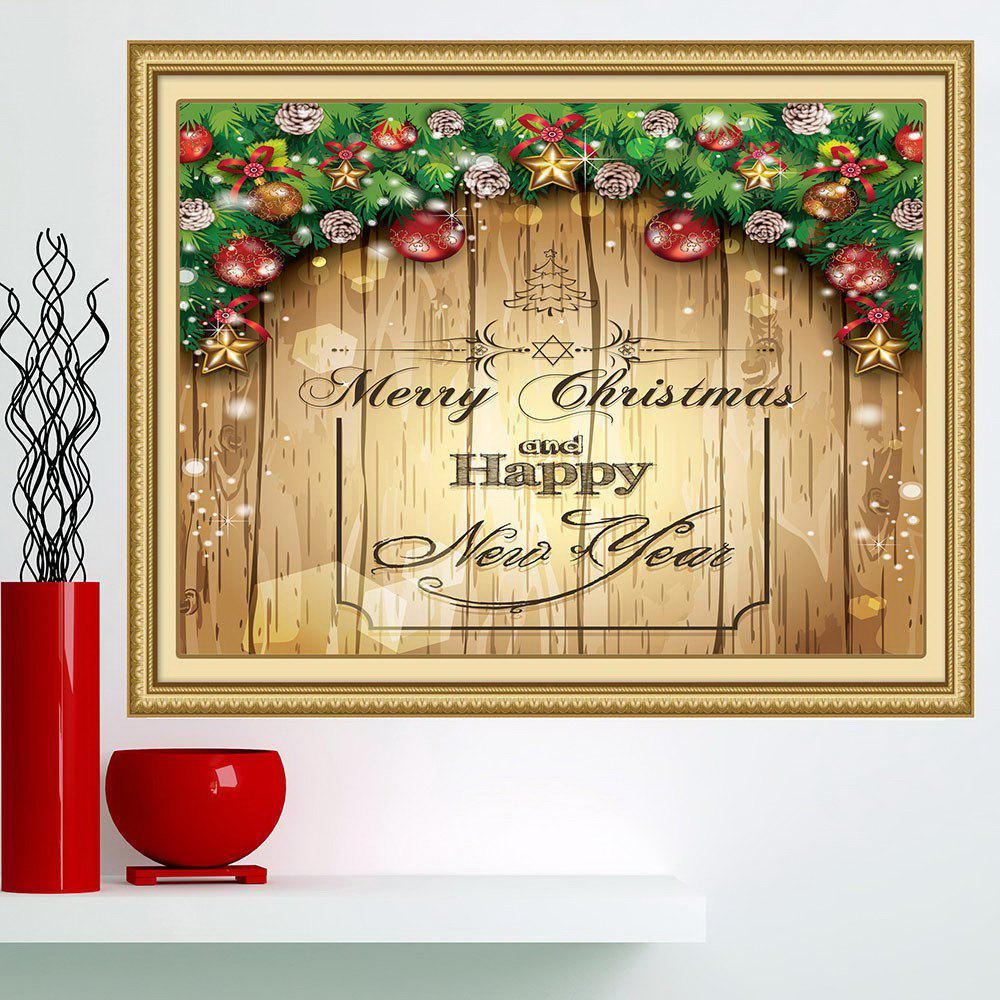 Merry Christmas Decorations Print Multifunction Wall Art PaintingHOME<br><br>Size: 1PC:24*35 INCH( NO FRAME ); Color: YELLOW; Subjects: Christmas; Product Type: Art Print; Features: Decorative; Style: Fashion; Hang In/Stick On: Bathroom,Bedrooms,Cafes,Hotels,Kids Room,Kitchen,Living Rooms,Lobby,Offices,Stair; Form: One Panel; Frame: No; Material: Fabric Cloth; Package Contents: 1 x Wall Art Painting;