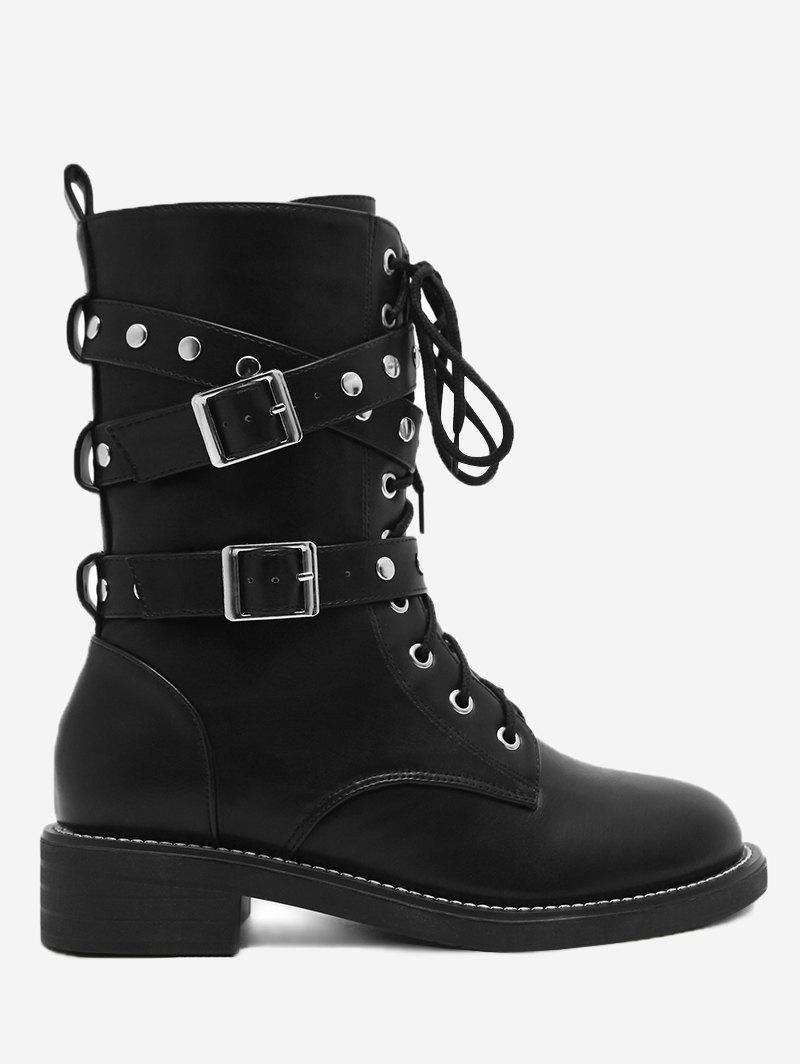 Store Studs Buckle Strap Size Zip Ankle Boots