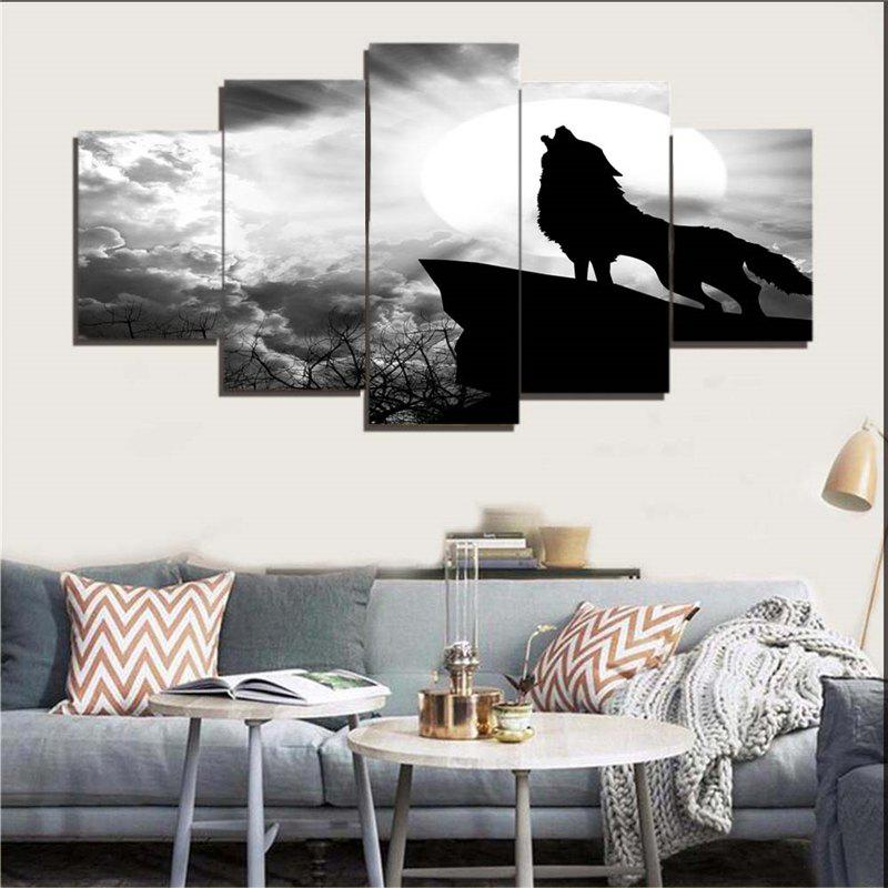 New Wolf Howl Print Unframed Canvas Paintings