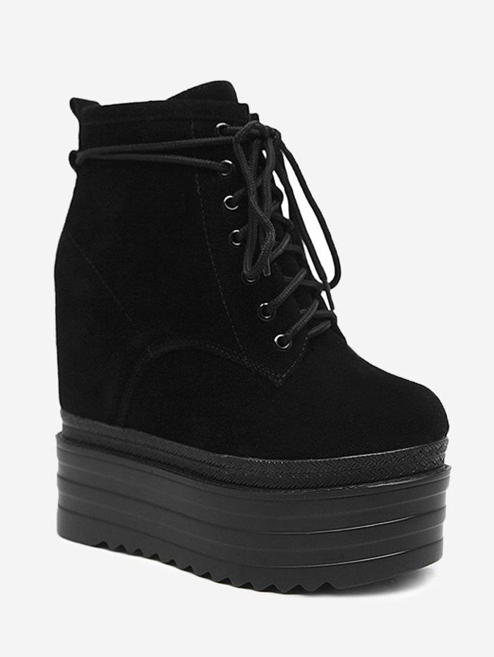 Cheap Platform Lace Up Ankle Boots