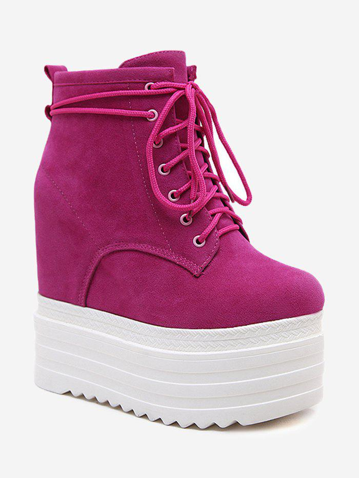 Platform Lace Up Bottines