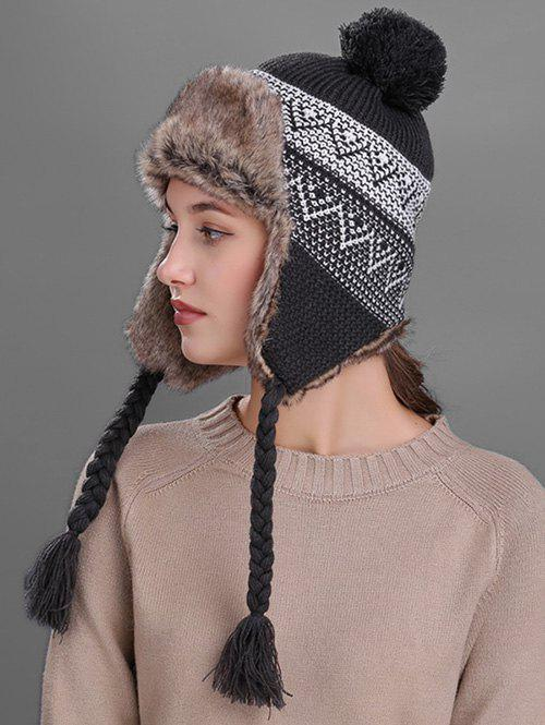 Affordable Outdoor Wave Stripe Pattern Knitted Winter Hat