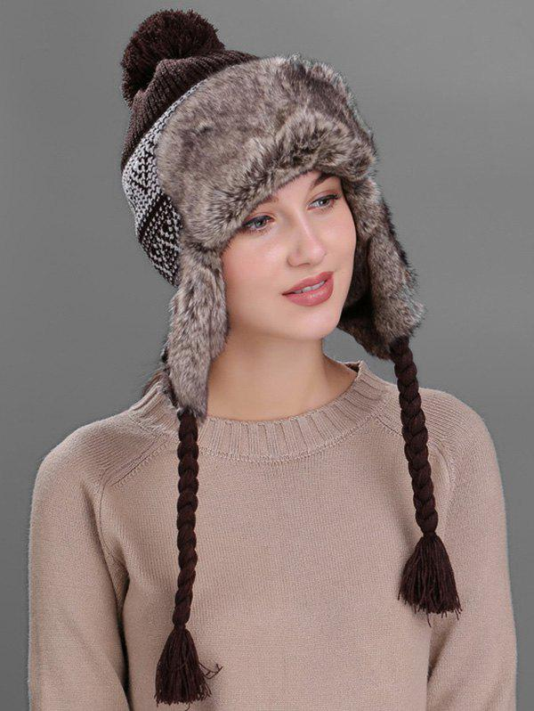 Chic Outdoor Wave Stripe Pattern Knitted Winter Hat