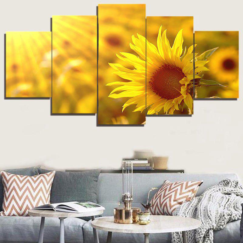 Ginger 1pc:12*31,2pcs:12*16,2pcs:12*24 Inch( No Frame ) Sunflower ...
