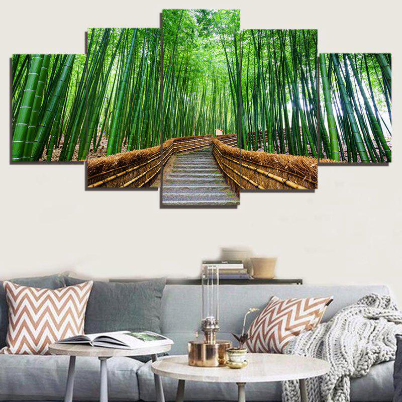 Outfits Unframed Bamboo Tree-lined Trail Paintings
