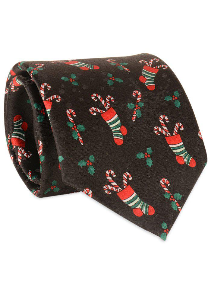 8CM Width Christmas Socks Pattern NecktieACCESSORIES<br><br>Color: BLACK; Type: Neck Tie; Group: Adult; Tie Type: Neck Tie; Style: Fashion; Pattern Type: Others; Material: Polyester; Width(CM): 8CM; Length(CM): 145CM; Weight: 0.0500kg; Package Contents: 1 x Tie;