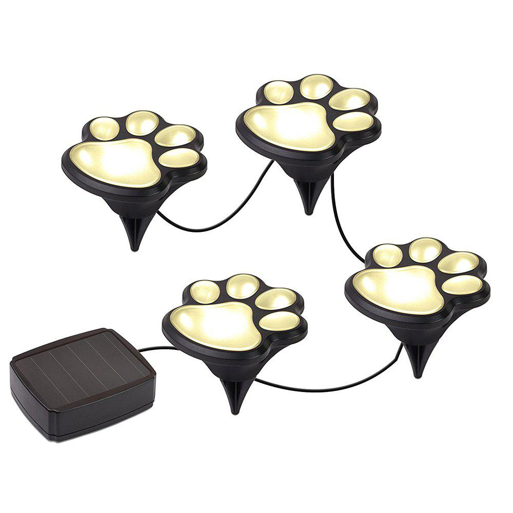 Cheap Paw Shape Solar Garden Lights Set Outdoor Landscape Lighting for Lawn Decor
