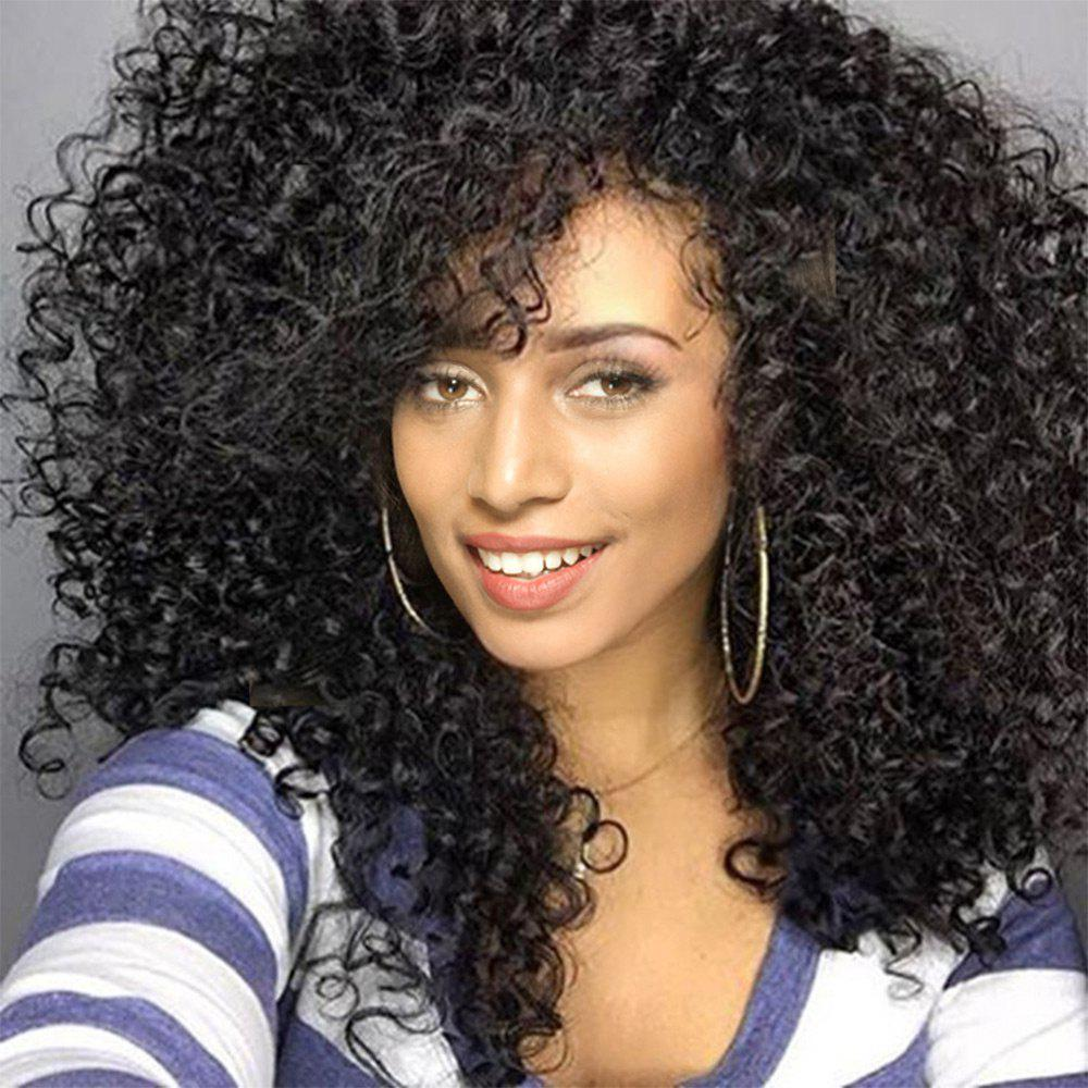 Sale Long See-through Bang Shaggy Afro Curly Synthetic Wig