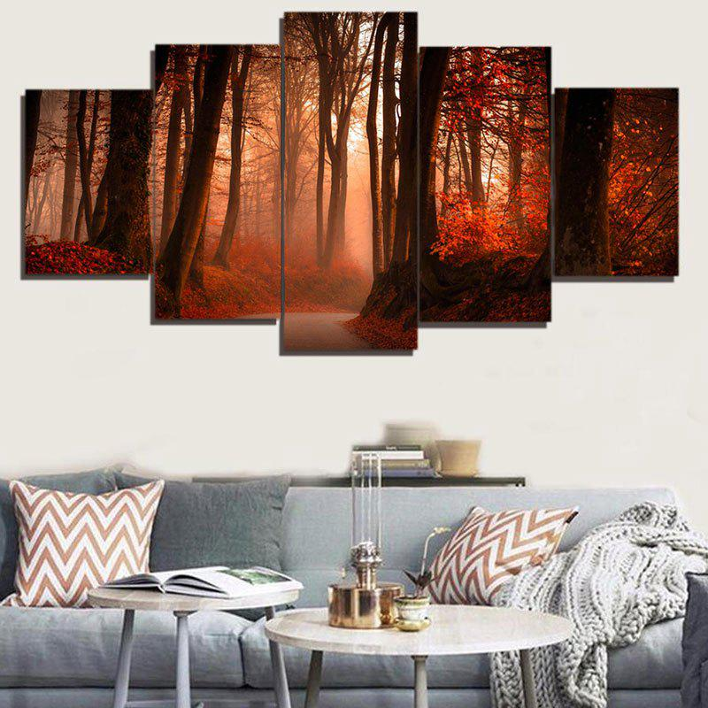 Chic Unframed Maple Forest Pattern Canvas Paintings