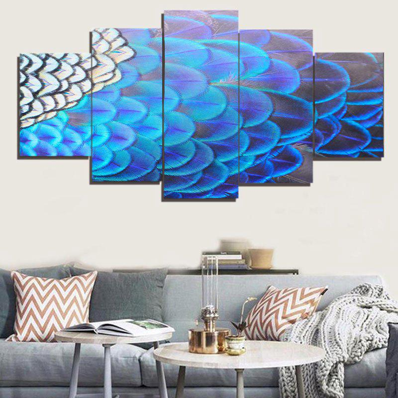 Unique Feather Printed Wall Art Canvas Painting