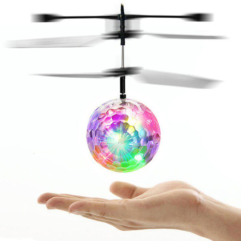 Shop Colorful Flashing LED Disco Ball Induction Helicopter Toy