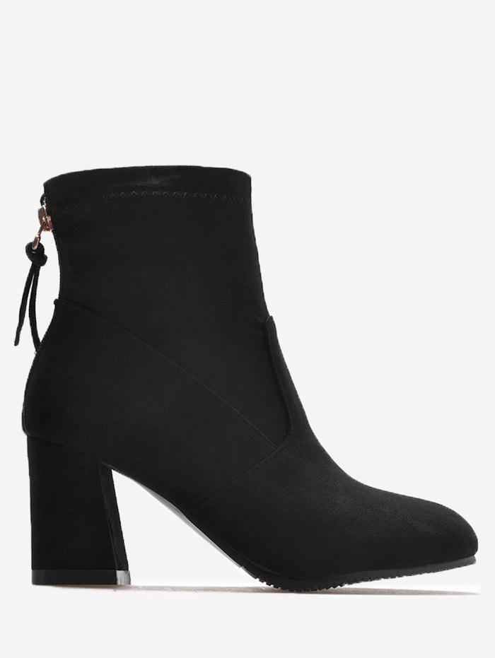 Online Pointed Toe Block Heel Ankle Boots
