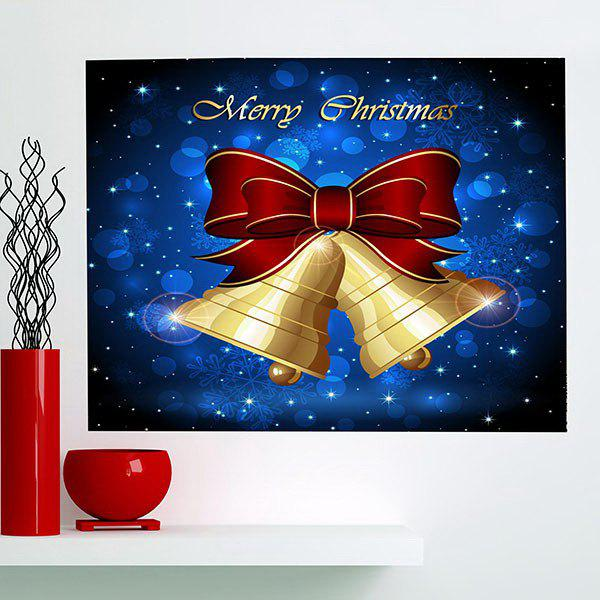 Christmas Bells Patterned Multifunction Wall Art PaintingHOME<br><br>Size: 1PC:24*24 INCH( NO FRAME ); Color: BLUE AND YELLOW; Subjects: Christmas; Product Type: Art Print; Features: Decorative; Style: Fashion; Hang In/Stick On: Bathroom,Bedrooms,Cafes,Hotels,Kids Room,Kitchen,Living Rooms,Lobby,Offices,Stair; Form: One Panel; Frame: No; Material: Fabric Cloth; Package Contents: 1 x Wall Art Painting;