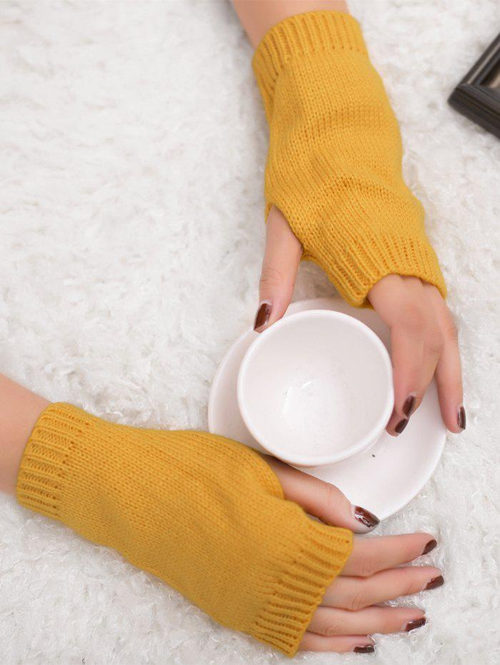 Online Outdoor Knit Fingerless Gloves