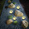 Paw Shape Solar Garden Lights Set Outdoor Landscape Lighting for Lawn Decor -