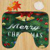 Christmas Tree Bells Pattern 3 Pcs Bath Mat Toilet Mat -