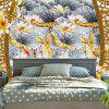 Lotus Print Decorative Wall Hanging Tapestry -
