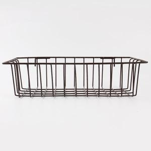 Household Portable Metal Wire Hanging Storage Basket -