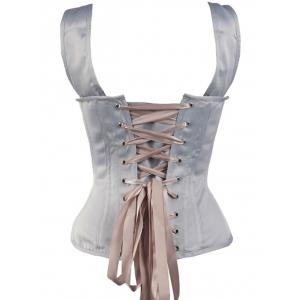 Steel Boned Lace Up Waist Training Corset Top -