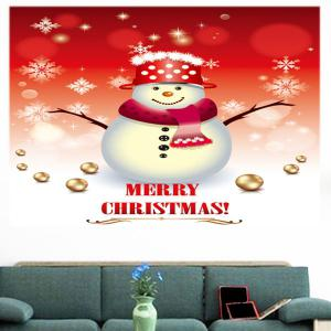 Multifunction Christmas Snowman and Snow Pattern Wall Sticker - COLORFUL 1PC:24*24 INCH( NO FRAME )