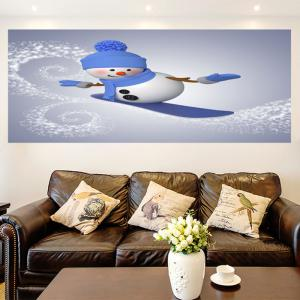 Multifunction Christmas Skiing Snowman Pattern Wall Sticker -