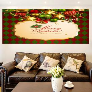 Merry Christmas Rhombus Pattern Multifunction Decorative Wall Sticker - COLORFUL 1PC:24*24 INCH( NO FRAME )