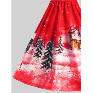 Father Christmas Sleigh Party Gown Dress - RED M