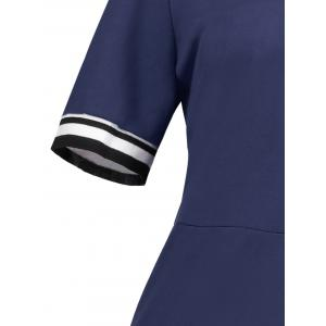 Plus Size Sheath Half Button Polo T-shirt Dress -