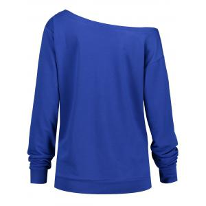Merry Christmas Snowflake Plus Size Drop Shoulder Sweatshirt - BLUE 4XL