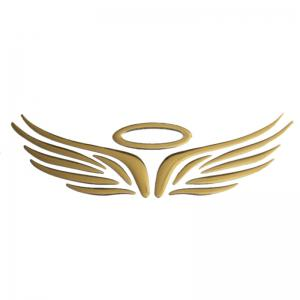 Wings Pattern Car Stickers - YELLOW