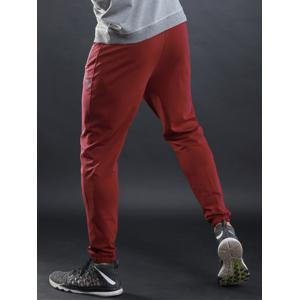 Contrast Trim Jogger Sports Athletic Pants - RED M