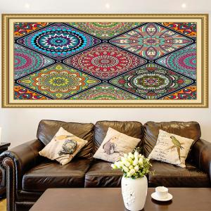 Multifunction Bohemian Geometries Flowers Pattern Wall Art Painting - COLORFUL 1PC:24*47 INCH( NO FRAME )