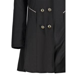 Double Breast Long Lapel Coat -