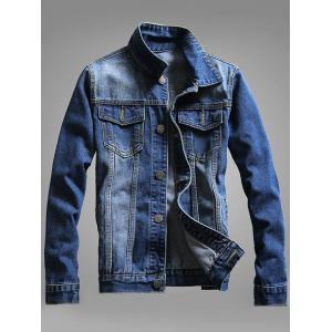Chest Pocket Button Up Denim Jacket -