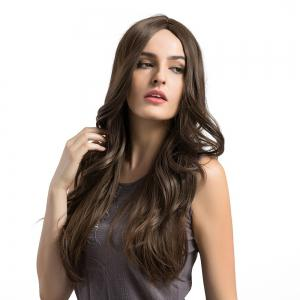 Middle Part Long Layered Wavy Capless Synthetic Wig -