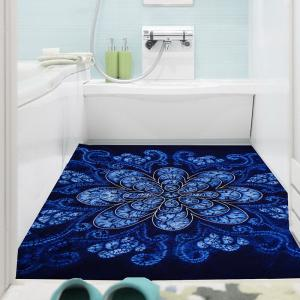 Bohemian Flower Print Multifunction Wall Art Painting - BLUE 1PC:24*24 INCH( NO FRAME )
