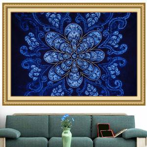 Bohemian Flower Print Multifunction Wall Art Painting - BLUE 1PC:24*35 INCH( NO FRAME )