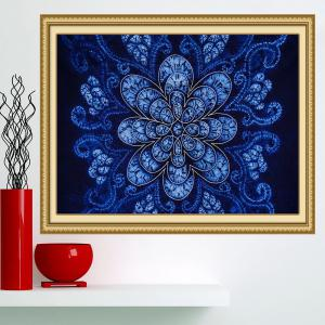 Bohemian Flower Print Multifunction Wall Art Painting - BLUE 1PC:24*47 INCH( NO FRAME )