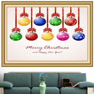 Nine Christmas Colorful Balls Multifunction Wall Art Painting - COLORFUL 1PC:24*24 INCH( NO FRAME )
