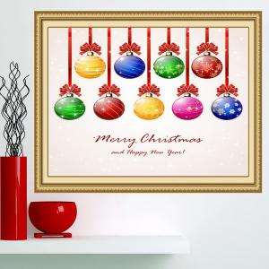 Nine Christmas Colorful Balls Multifunction Wall Art Painting - COLORFUL 1PC:24*35 INCH( NO FRAME )