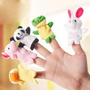 10 Pcs Baby Educational Finger Toys Animals Finger Puppets - COLORMIX