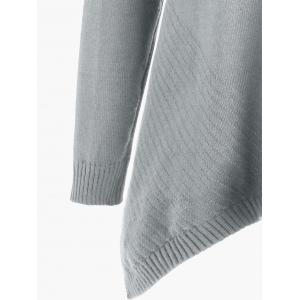Plus Size Long Asymmetric Sweater with Slit -