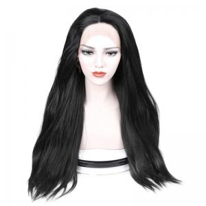Middle Part Long Straight Lace Front Synthetic Wig -