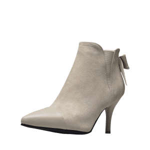 Pointed Toe Bow Ankle Boots -