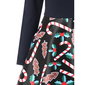 Christmas Graphic Criss Cross Swing Dress -